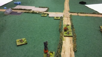 Jamie's cavalry scuttling off back to the crossroads.