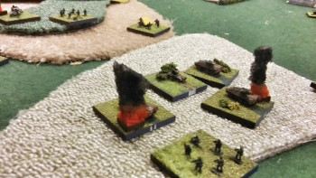 The mighty Ferret/Swingfire moves up towards 'Kurassier Ridge'