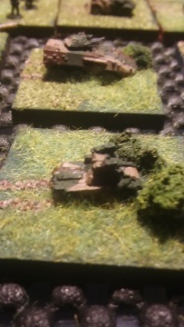 Ferret with Swingfire - AT support for the Regt.  Mortar Platoon vehicle behind it.