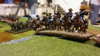 Some of the damn Yellow-legs prepare to escort the wagon.
