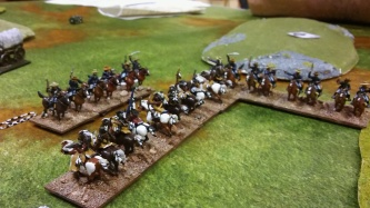 Other band break from cover in surprise attack. and get promptly flanked - manage to escape unharmed though!