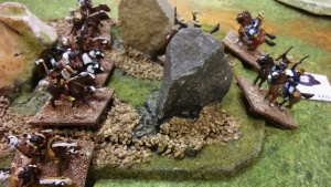 Boys fail to evict them from the rocks.