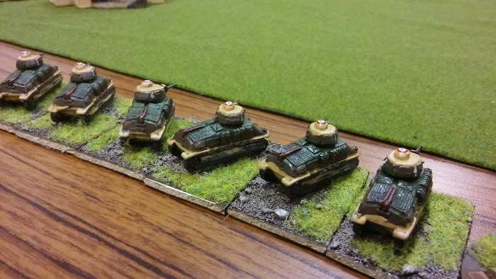 My armour - 'les Caramacs' - lovely Somua's.