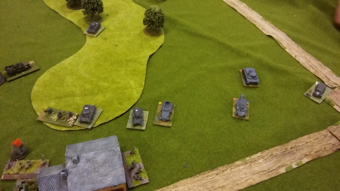 Germans clear the wood on the left.