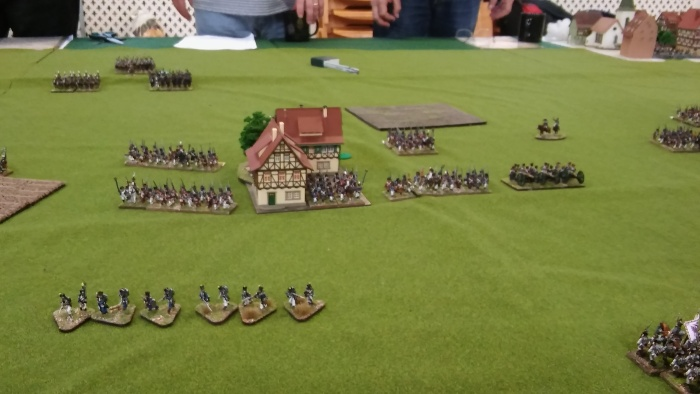 My objective. The plan was to take out the battalions either side and then attack the village to secure it.