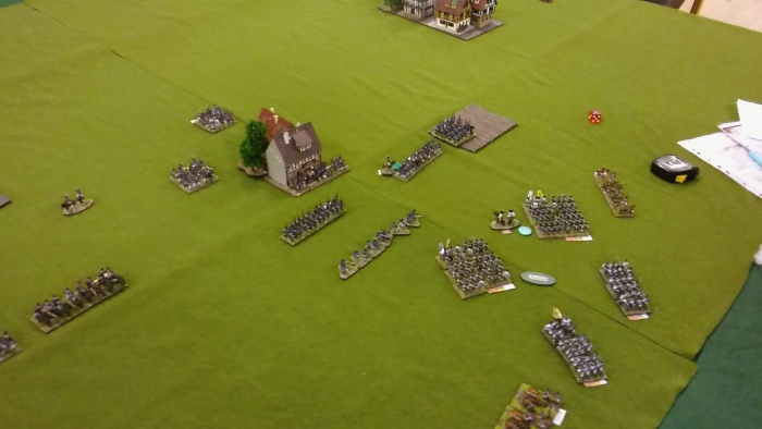 Del's attack on the extreme right, with left flank uncovered by hesitant brigade!