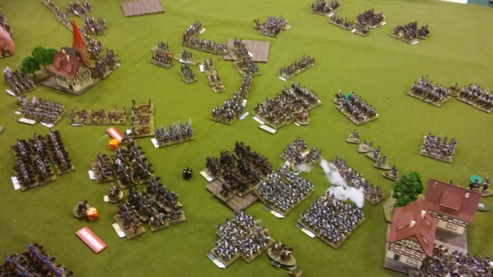 Things start to look confusing as Ian and Warren hold on on the left whilst Austrian Cavalry punches through and I finally make some headway!