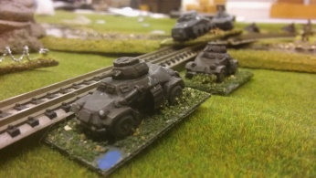 German armoured cars finally get across the river.