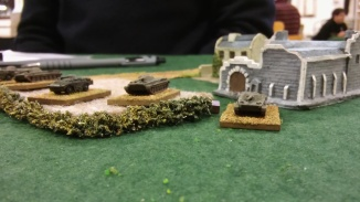 Soviet recon forces around the 'Manor House'.