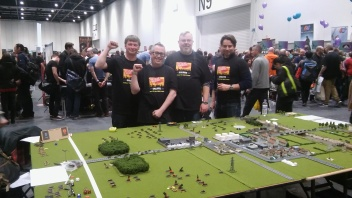 The team: L-R: Me, Dan, Warren and Daren