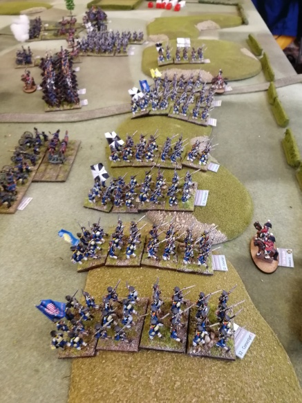 Prussian infantry poised to strike