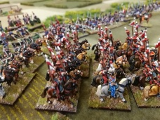 Del's cavalry show the enemy just how a lancer should look.