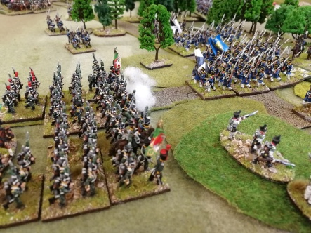 Italian and Prussian infantry about to get stuck in