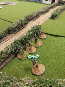 First British section get mullered by Armoured Car and Tank fire