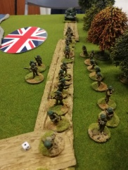 Brit re-inforcing Platoon just before attracting attention of the death ray Sdkfz's