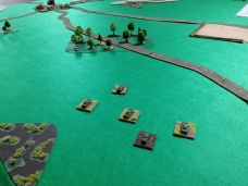 Initial attack in the centre gets moving
