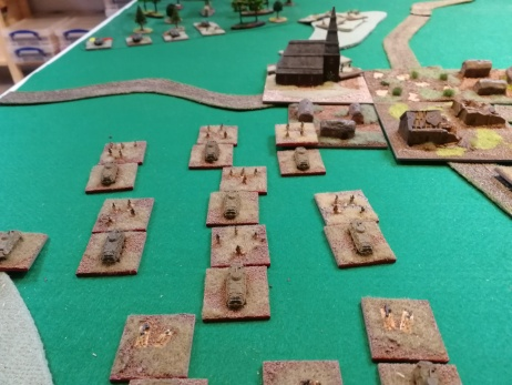 Infantry dismount as the S-tanks get ready