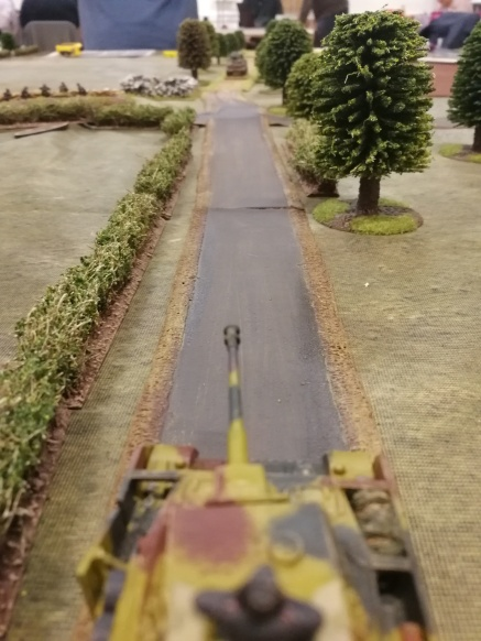 Gunner, target: Sherman on the road, fire!